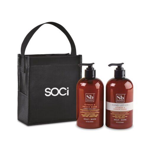 Soapbox® Cleanse & Soothe Gift Set - Black-Citrus & Peach Rose