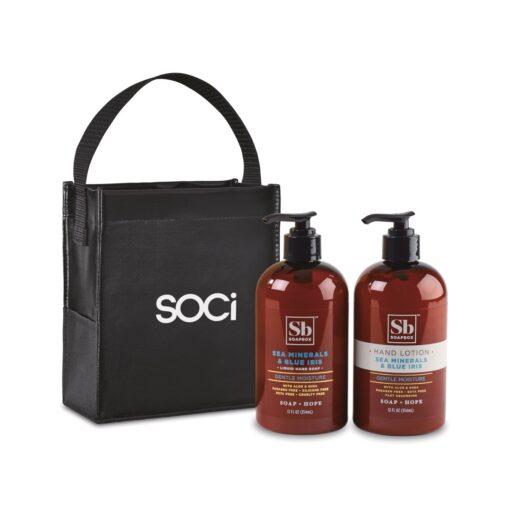 Soapbox® Cleanse & Soothe Gift Set - Black-Sea Minerals & Blue Iris