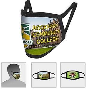 2 Ply Full Color Sublimation Washable & Reusable Face Mask