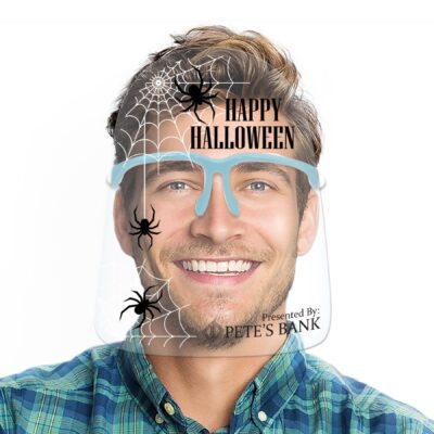 Round Top Holiday Face Shields